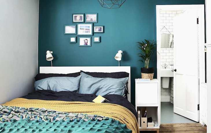 feng shui quarto solteiro em tons de azul