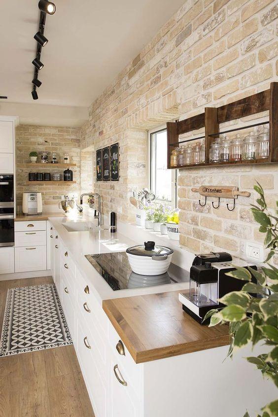 Cozinha estilo rústico.