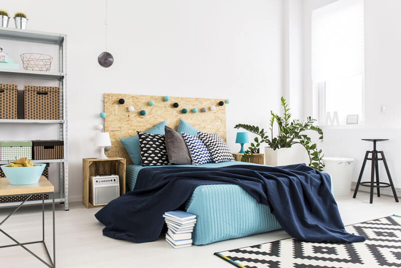 feng shui quarto tons de azul