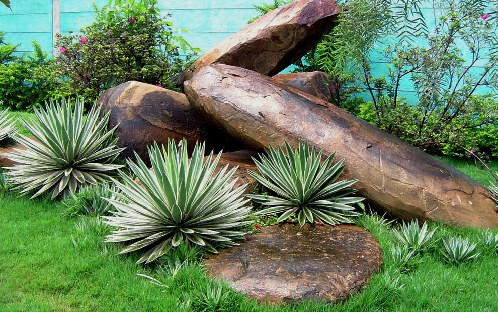 pedras de rio como esculturas