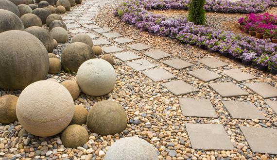 pedras para jardim seixos