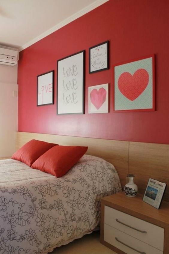 quarto casal feng shui tons de vermelho