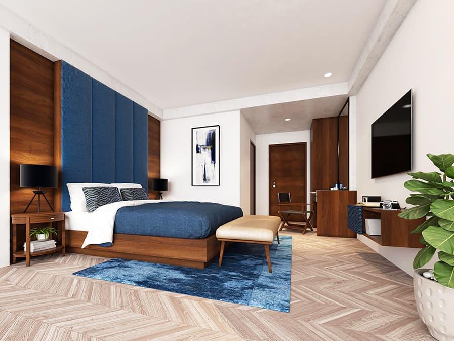 tonalidades de azul decoração quarto feng shui