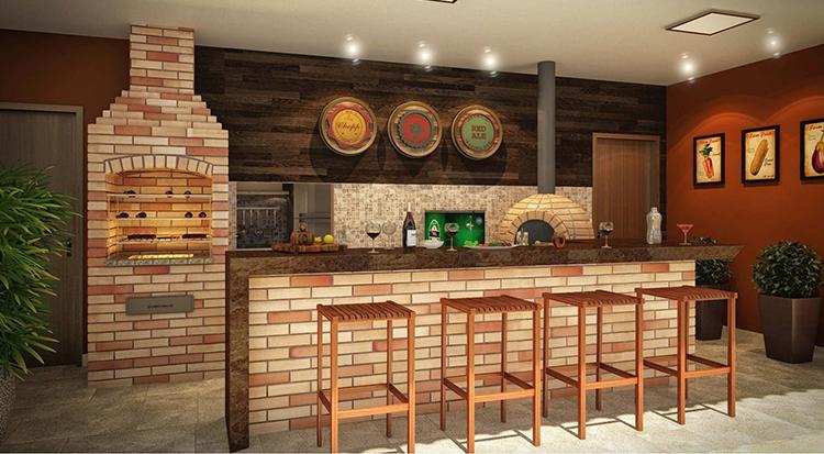 churrasqueira de tijolo espaço gourmet