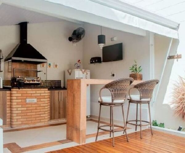 espaço gourmet simples