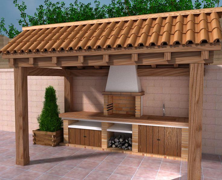 churrasueira de tijolo simples
