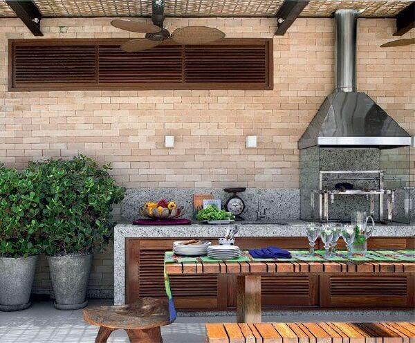 churrasqueira de tijolo moderna