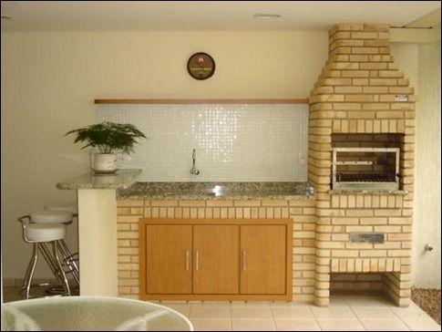 balcão e churrasqueira de tijolo