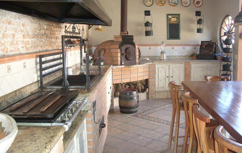 churrasqueira de tijolo rustica