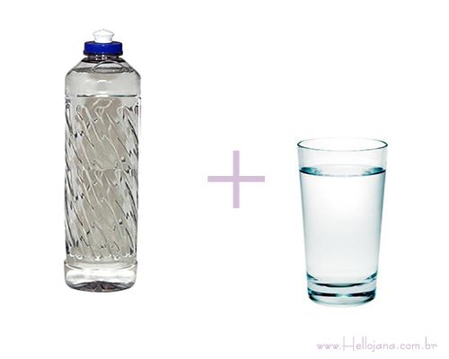 água e detergente sobre como desentupir pia