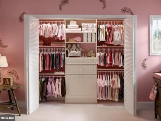 Como organizar guarda roupa infantil