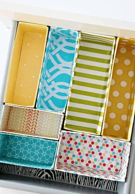 caixas para organização