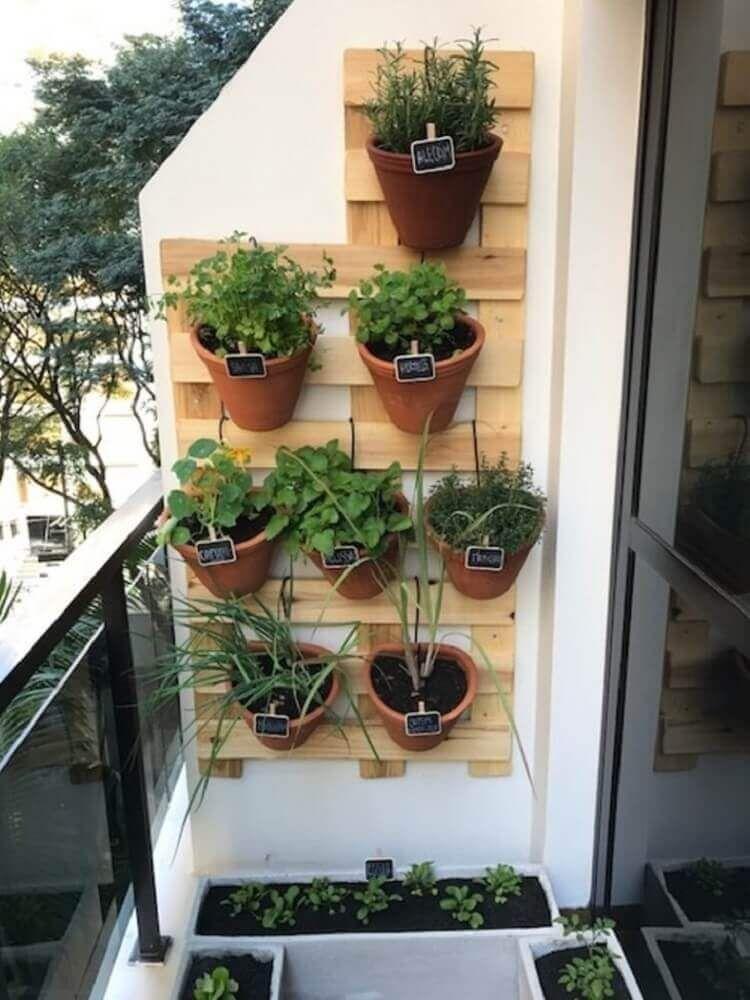 horta vertical varanda