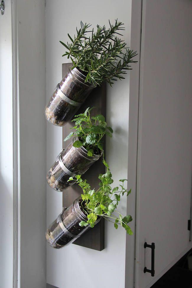 horta vertical com vidro