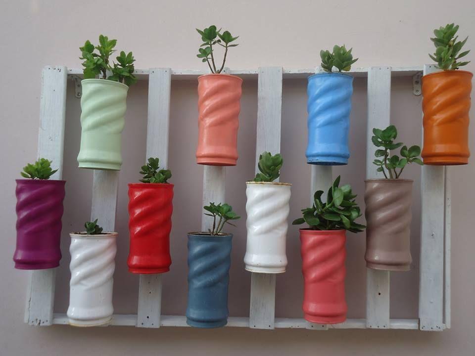 horta vertical lata de nescau