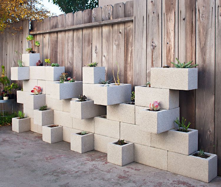 horta vertical blocos concreto
