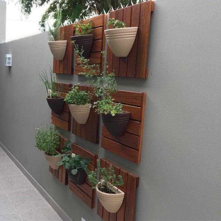 horta vertical painel em deck
