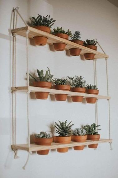 horta vertical suspensa com prateleiras