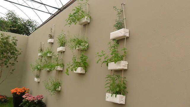 horta vertical em cordas