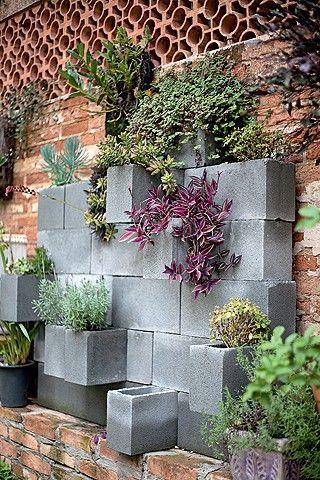 horta com blocos