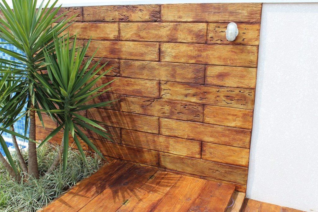 pisos que imitam madeira chão e parede