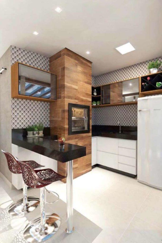 piso na churrasqueira moderna