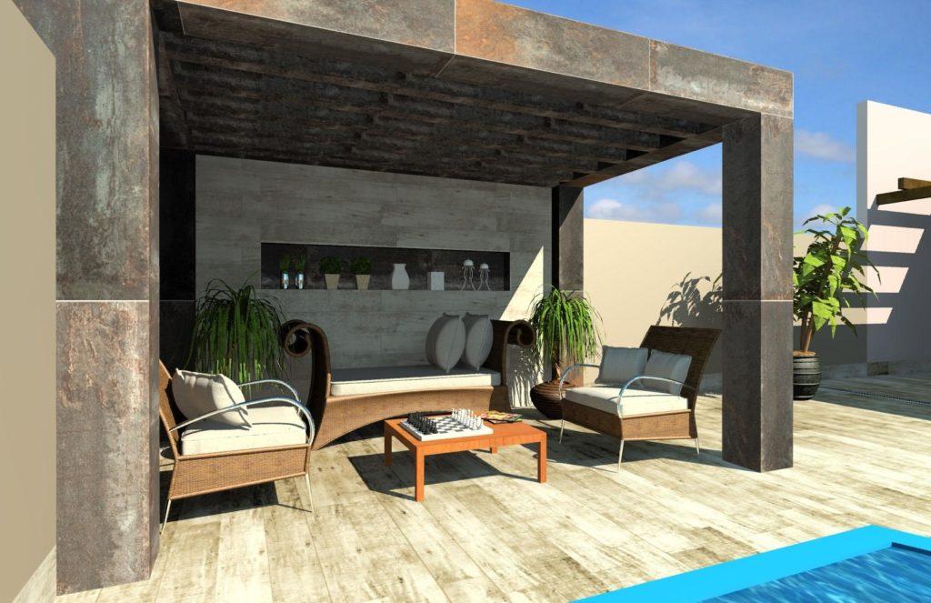 pisos que imitam madeira na piscina