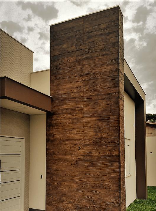 piso na fachada