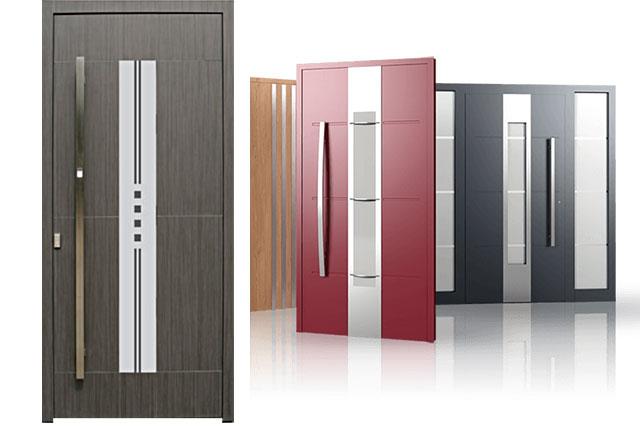 várias cores de porta