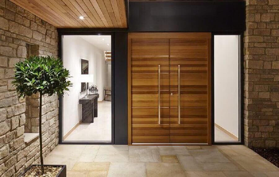 porta dupla madeira