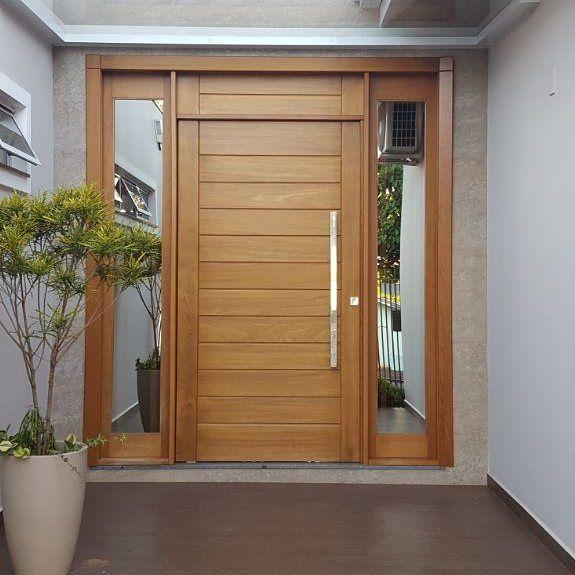porta de entrada madeira