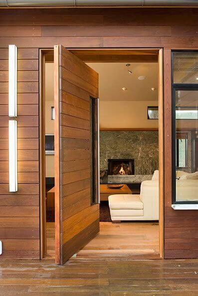 madeira na fachada
