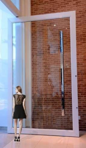 porta em vidro translucido