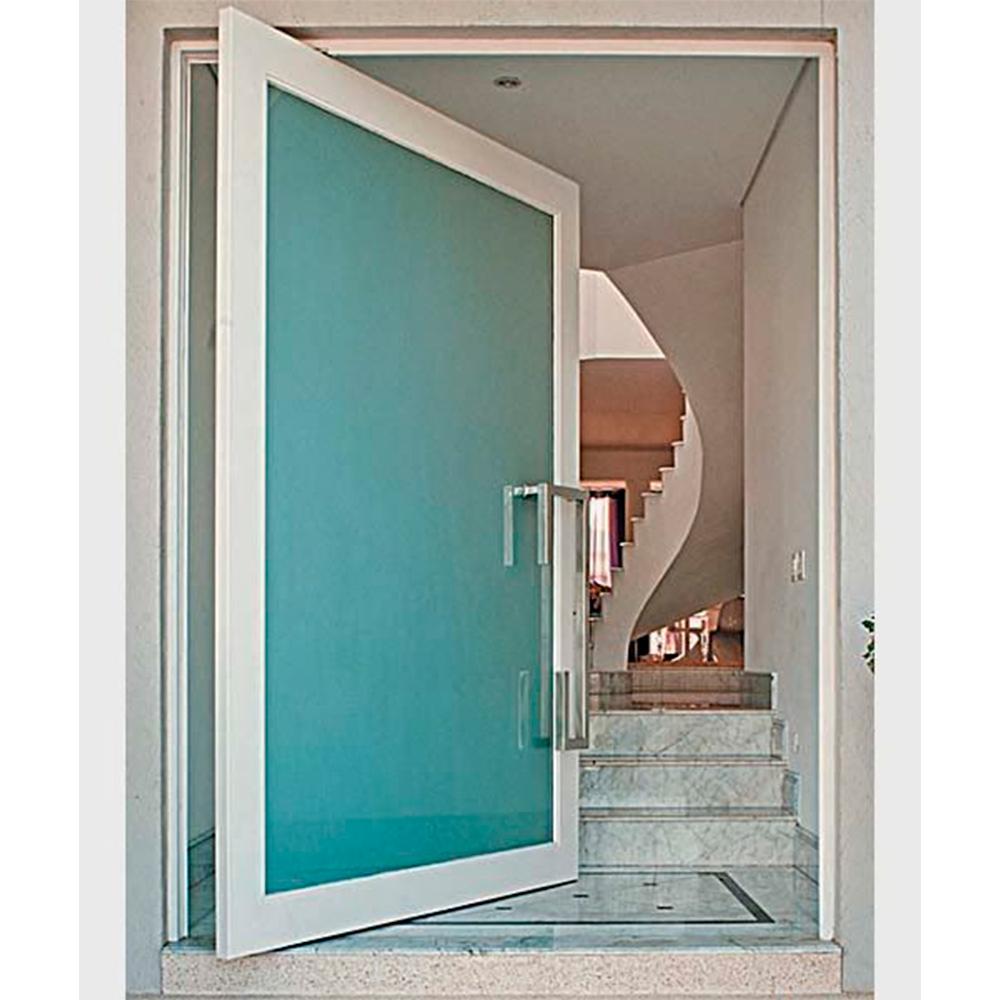 porta aluminio branco e vidro