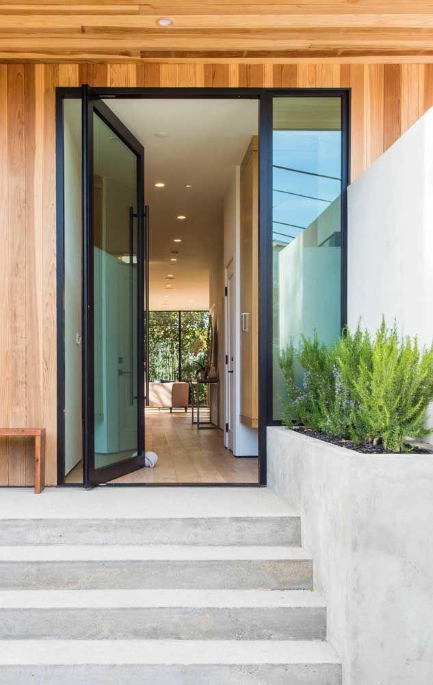 porta de entrada vidro