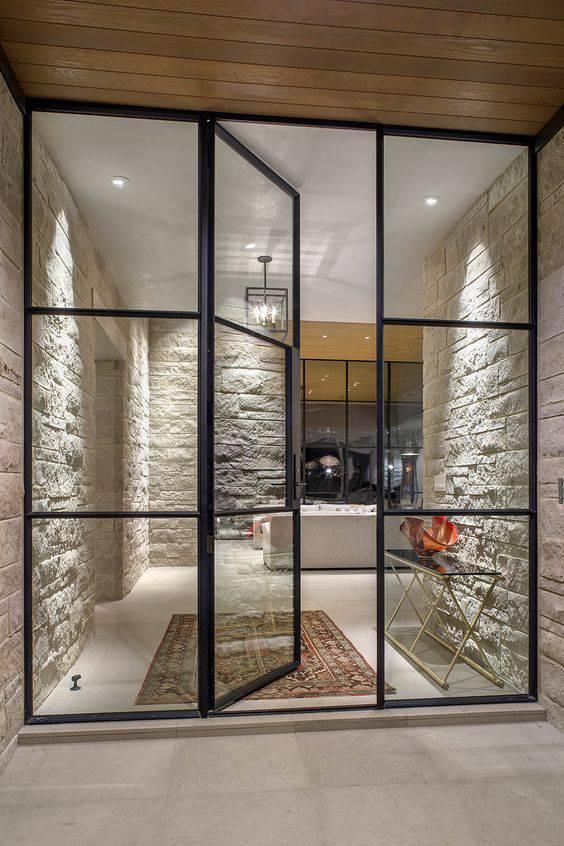 porta de vidro e aluminio