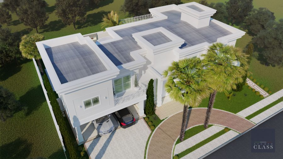 projeto com telhas