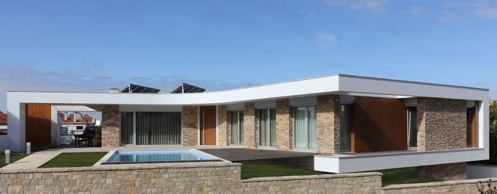 telhado reto moderno