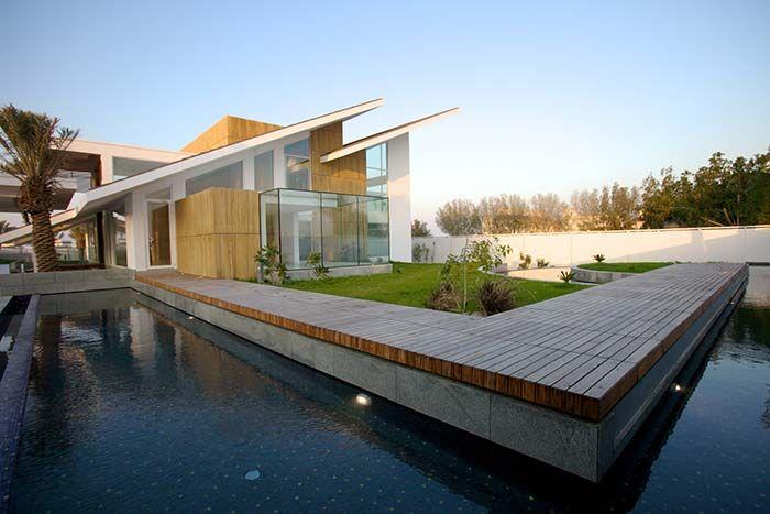 residencia com telhado skillion moderno