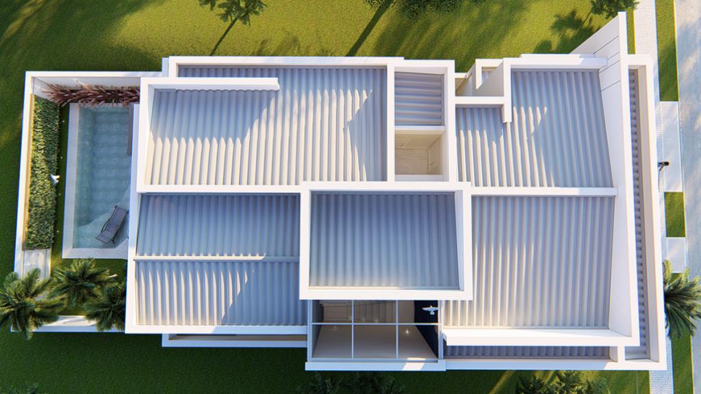 tipos de telhados com telha fibrocimento