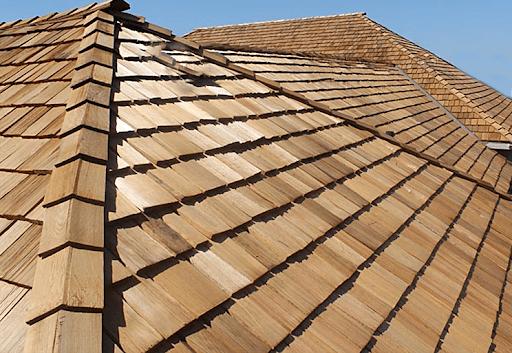 telha de madeira