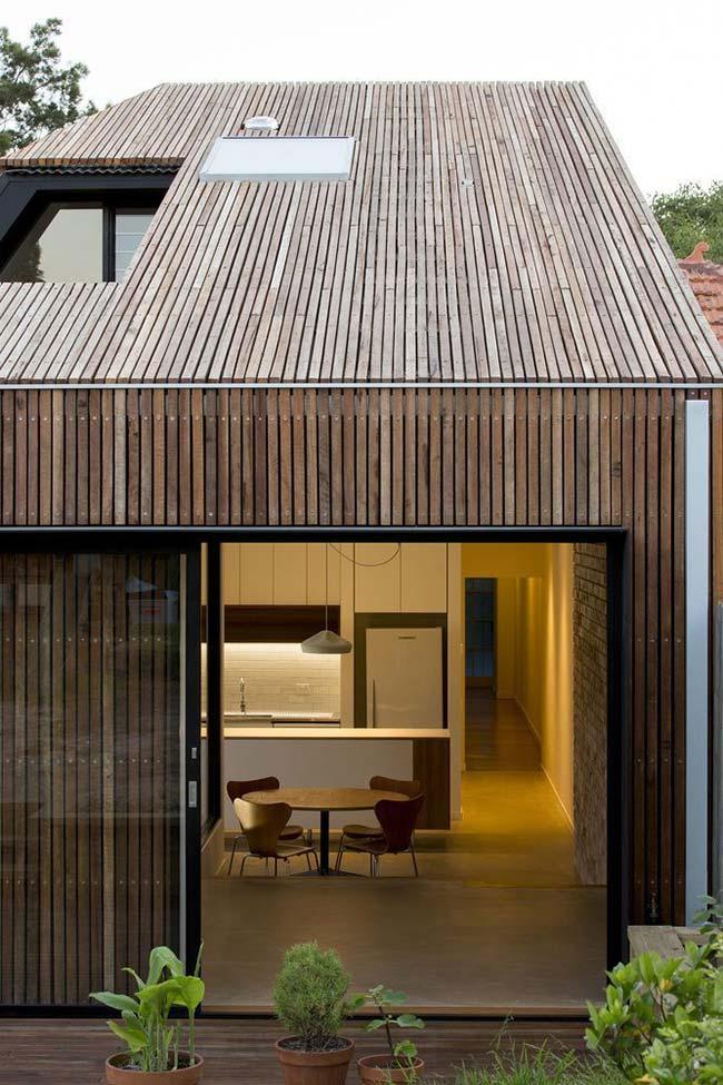 telha com madeira ripada