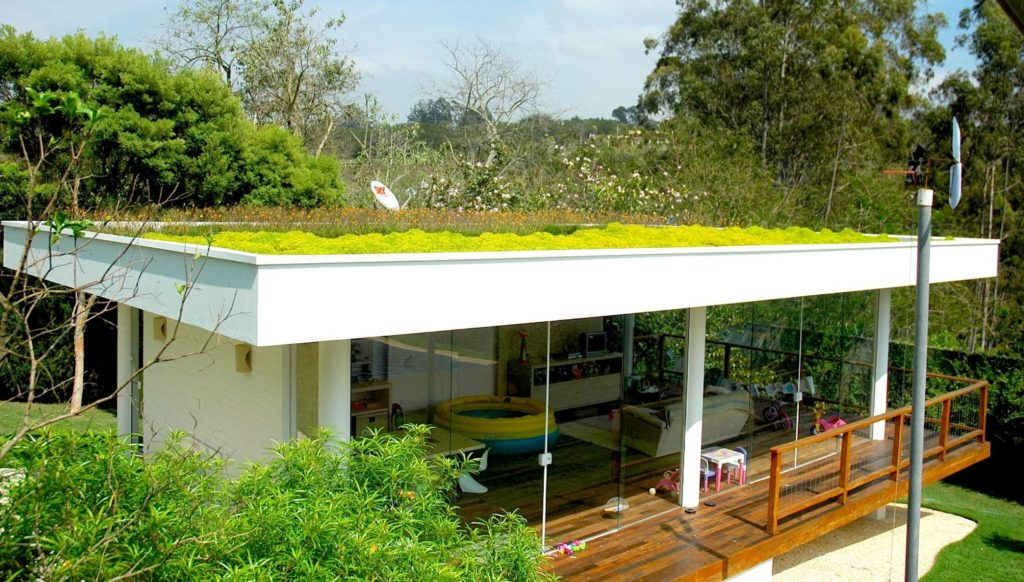 telhado verde simples