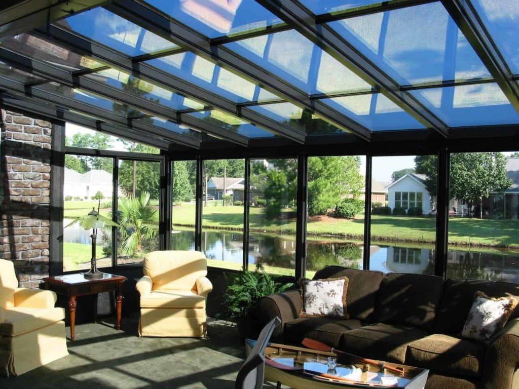 tipos de telhados com vidro