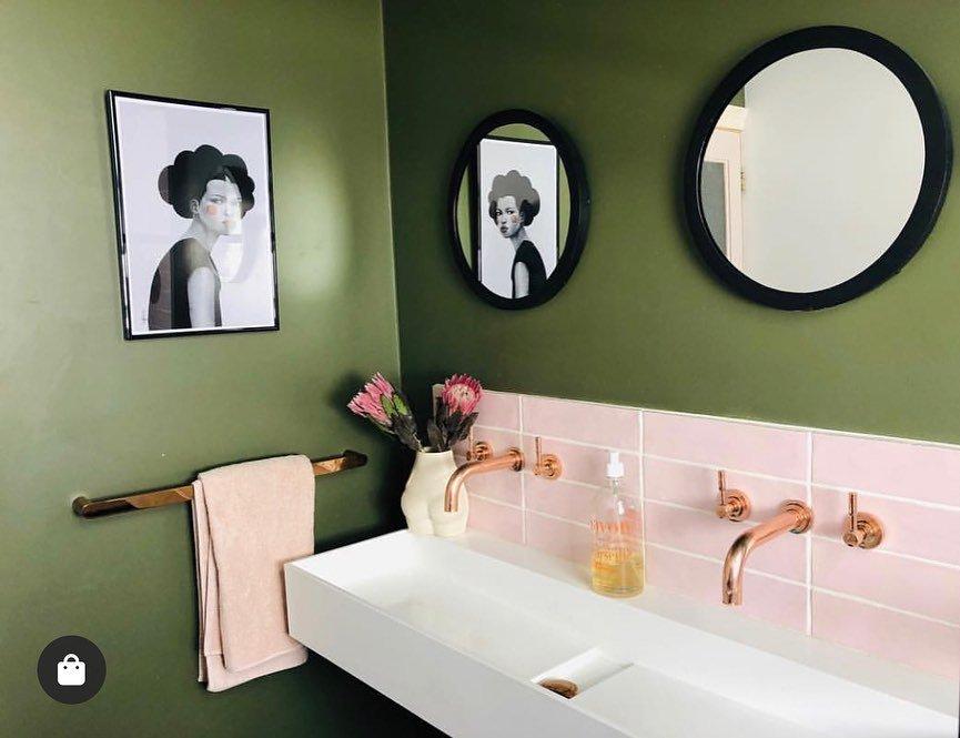 verde musgo banheiro