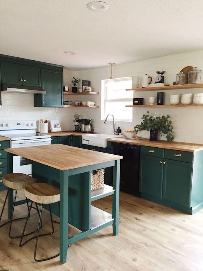cozinha verde compacta