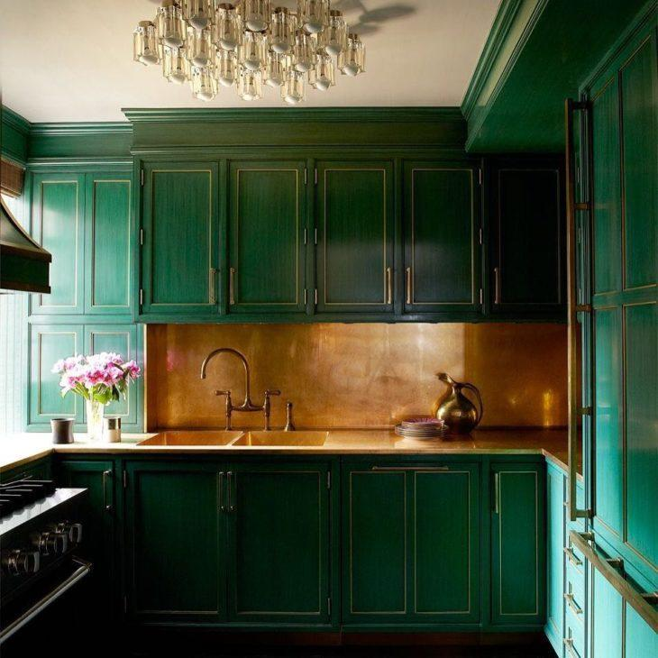 cozinha verde vivo
