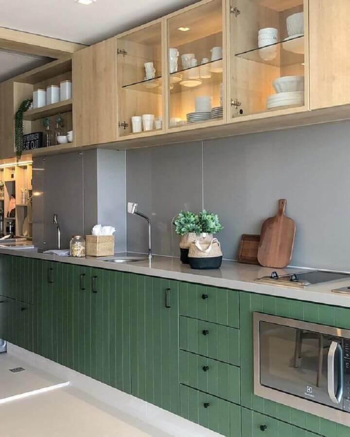 cozinha simples verde
