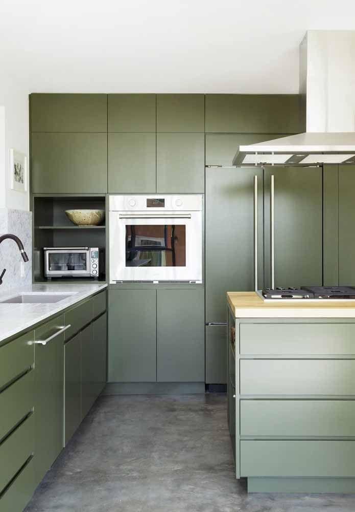 cozinha toda verde
