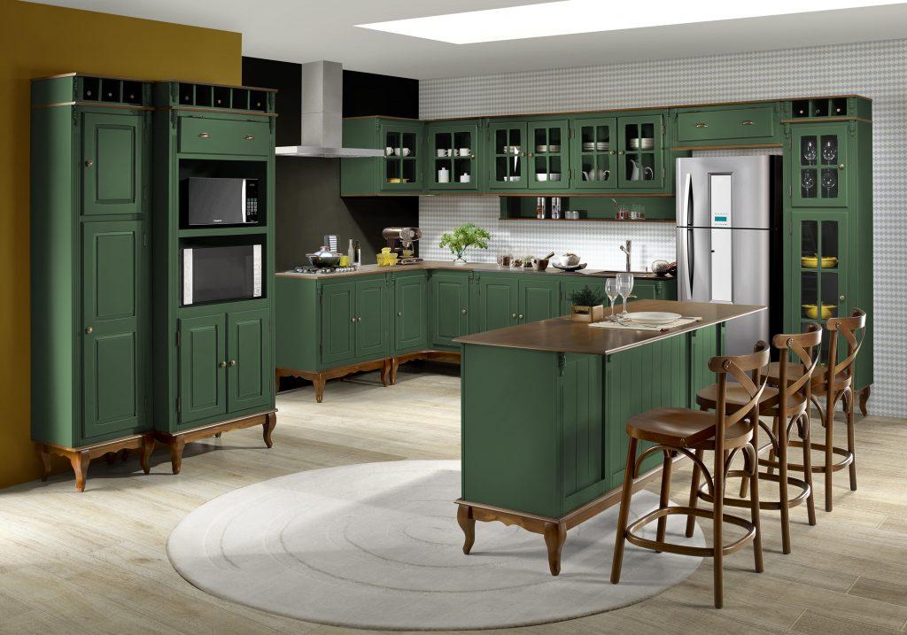 verde e madeira